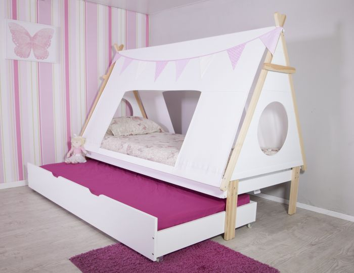 Flair Furnishings Teepee Tent bed frame with trundle