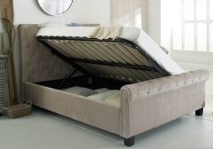 Flair Furnishings Lola Fabric Ottoman Bed Mink