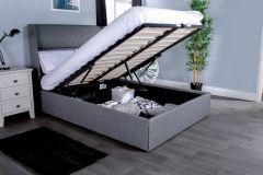 Flair Furnishings Rumba Fabric Ottoman Bed Frame