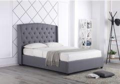 Flair Durrani Grey Fabric Ottoman Bed Frame