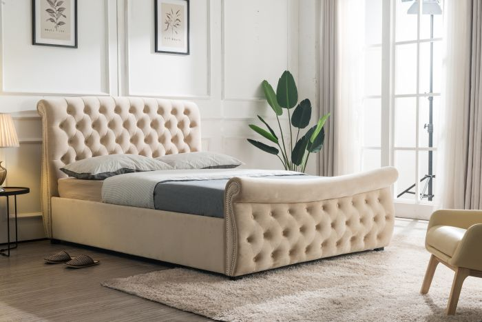 Flair Furnishings Lucinda Chesterfield Side Lift Ottoman Bed